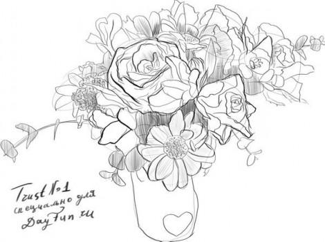 Jak Nakreslit Kytici Kvetin Pro Maminku Jak Nakreslit Kvetiny